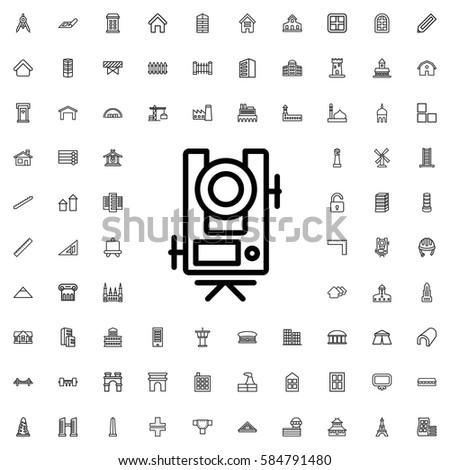 Level Equipment Icon Illustration Isolated Vector Stock Vector
