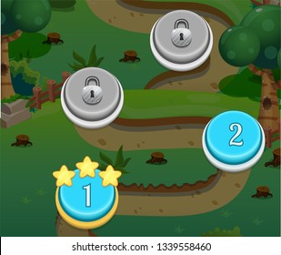 Level Indicators for Level Map GUI Mobile Game