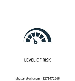 Level of Risk icon. Simple element illustration. Level of Risk concept symbol design. Can be used for web and mobile.