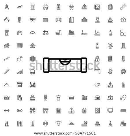 Level Ruler Icon Illustration Isolated Vector Stock Vector Royalty