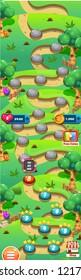 Level World Map for Mobile Games - Assets - For Game Reskin