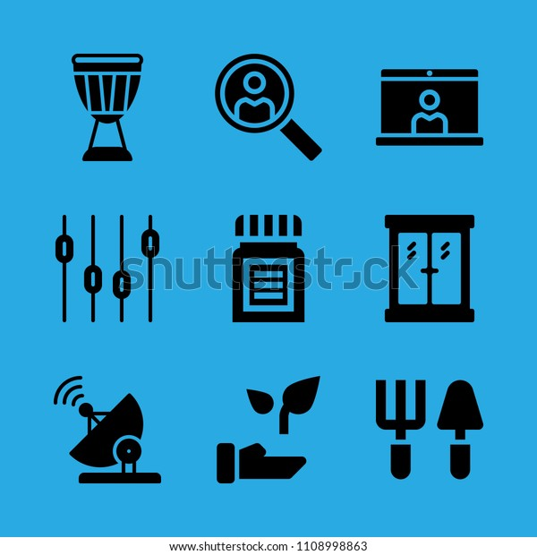 Levels Search Plant Window Video Conference Stock Vector