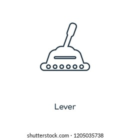Lever concept line icon. Linear Lever concept outline symbol design. This simple element illustration can be used for web and mobile UI/UX.