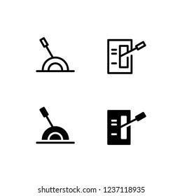 Lever Icon Logo Vector Symbol. Handle Icon