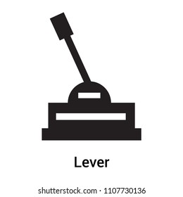 Lever icon vector isolated on white background for your web and mobile app design, Lever logo concept