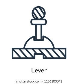 Lever icon vector isolated on white background, Lever transparent sign , thin symbols or lined elements in outline style