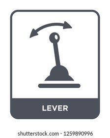 lever icon vector on white background, lever trendy filled icons from Industry collection, lever simple element illustration