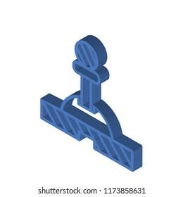 Lever isometric left top view 3D icon