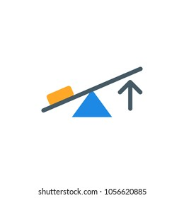 lever, physics flat vector icon. Modern simple isolated sign. Pixel perfect vector  illustration for logo, website, mobile app and other designs