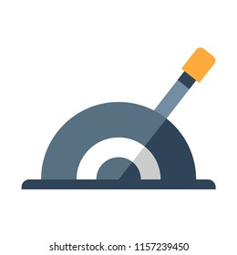 A lever vector illustration in flat color design