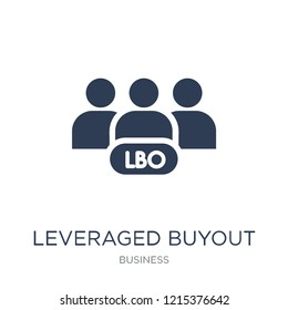 Leveraged buyout icon. Trendy flat vector Leveraged buyout icon on white background from Business collection, vector illustration can be use for web and mobile, eps10