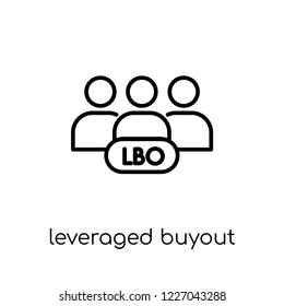 Leveraged buyout icon. Trendy modern flat linear vector Leveraged buyout icon on white background from thin line Business collection, editable outline stroke vector illustration