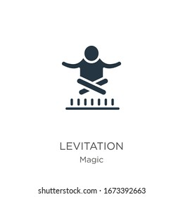 Levitation icon vector. Trendy flat levitation icon from magic collection isolated on white background. Vector illustration can be used for web and mobile graphic design, logo, eps10