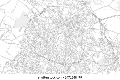 Lexington, Kentucky, USA, bright outlined vector map with bigger and minor roads and steets created for infographic backgrounds.