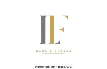 LF, FL Abstract Letters Logo Monogram