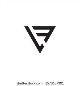 LF, FL logo design vector.