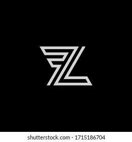 LF or FL logo design. Vector illustration.