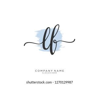 LF Initial handwriting logo vector
