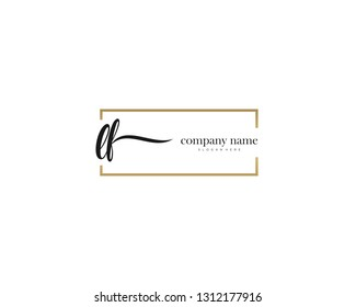 LF Initial handwriting logo vector. Hand lettering for designs.
