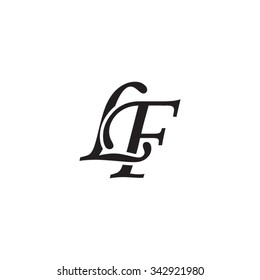 LF initial monogram logo