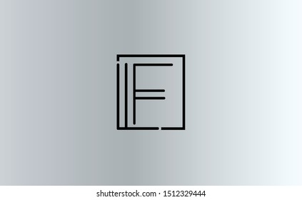 LF Letter Logo Design Template Vector