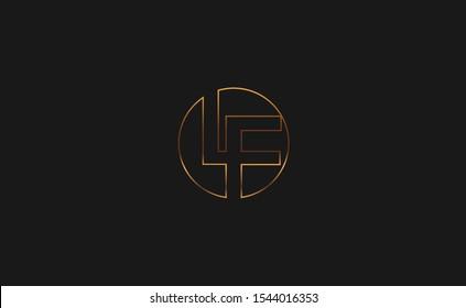 LF letter Logo Design Template Vector