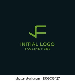 LF  Letter vector Logo Template Illustration Design.