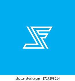 LF logo design. Vector illustration.
