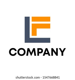 LF logo vector design template sign