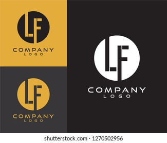 lf/fl initial logo design letter with circle shape