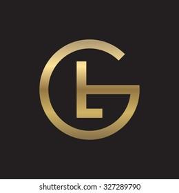 LG or GL letters, golden circle G shape