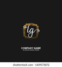 LG Initial handwriting logo vector