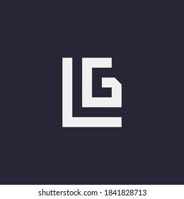 LG initial logo design. Letter G and L logo vector, modern and professional monogram. LG icon template for business, company, brand, corporate. Logotype for sports, gym, store, adventure, travel, etc