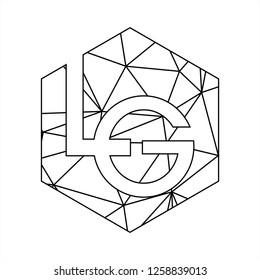 LG initials geometric polygonal logo