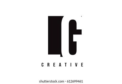 LG L G White Letter Logo Design with Black Square Vector Illustration Template.