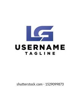 Lg letter logo monogram letter mark icon vector minimalist