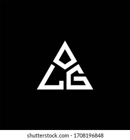 LG monogram logo with 3 pieces shape isolated on triangle design template