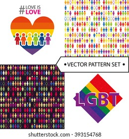 lgbt colorful sign and textures. vector. equality.