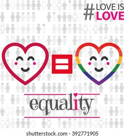 lgbt colorful sign. vector. equality. support love is love