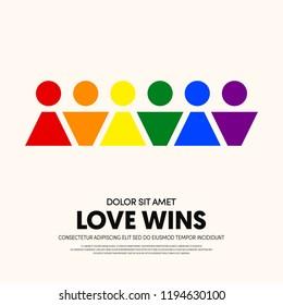 LGBT community poster design template background. Design element template can be used for backdrop, brochure, banner, publication, vector illustration