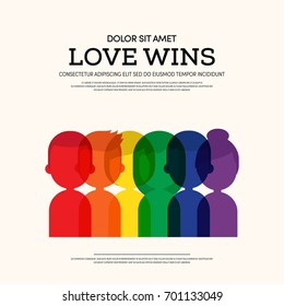 LGBT community poster template background, Can be used for backdrop, brochure, vector illustration