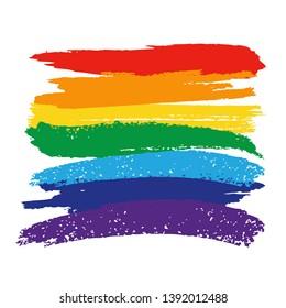 LGBT concept. Flag Pride Rainbow Lgbt Lesbian. Vector hand drawn