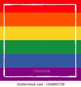 LGBT flag. Rainbow love. Vector illustration