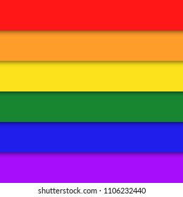 LGBT flag vector icon.