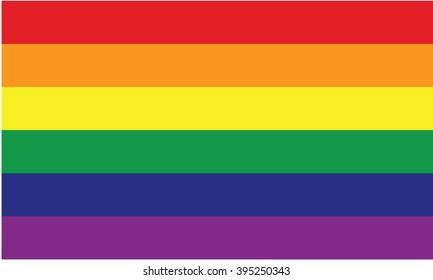 LGBT flag vector icon