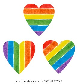 LGBT heart of rainbow colors. Relations.