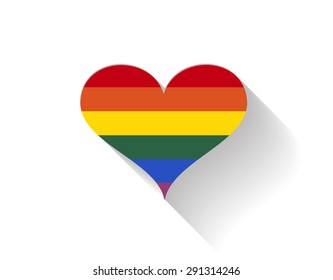 lgbt heart shape love background icon vector