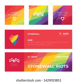 LGBT Honor Society. Colorful design. Freedom. Love. Heart. Rainbow abstract. Vector. Template for poster, banner, card.