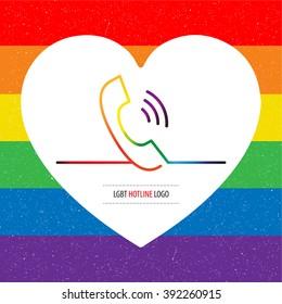 lgbt hotline logo. gay support.