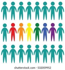 LGBT people vector icon on white background